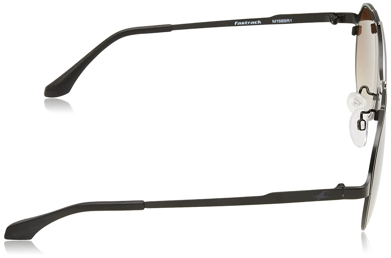Fastrack Gradient Aviator Mens Sunglasses M168BR1|56|Brown Color