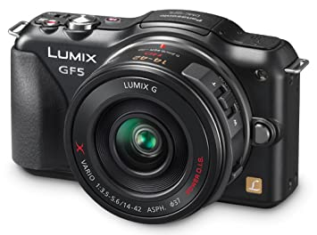 Panasonic Lumix DMC-GF5XK Live MOS Micro 4/3 Mirrorless Digital Camera with  3-Inch Touch Screen and 14-42 Power Zoom Lens (Black)