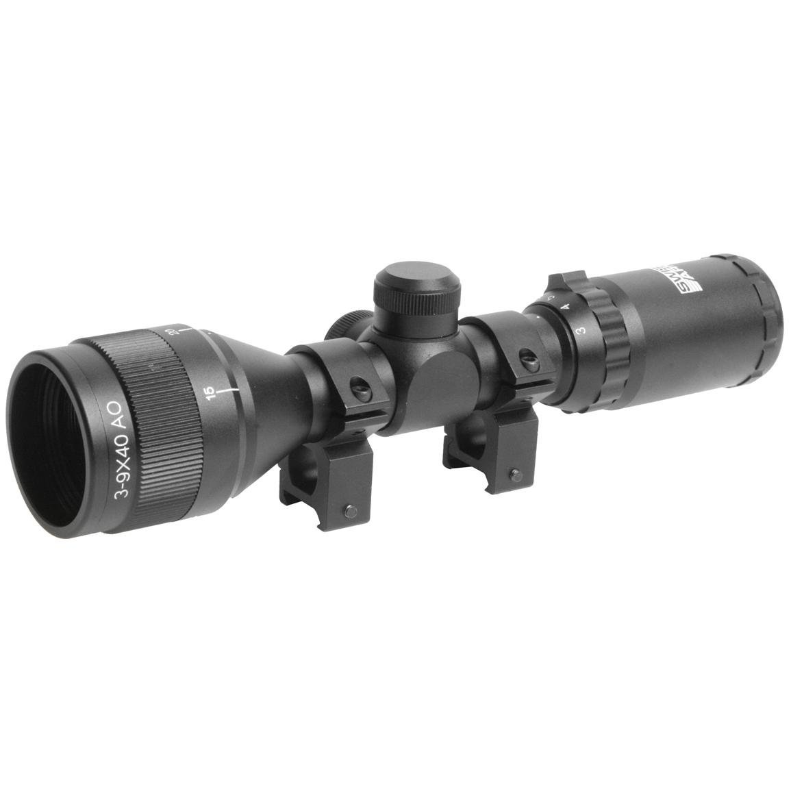 SWISS ARMS 3-9 X 40 WATERPROOF COMPACT SCOPE BLACK ZOOM RIFLE AIRSOFT