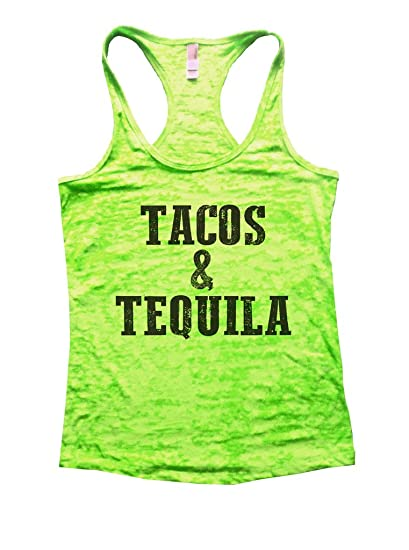 c879e106c26de Amazon.com  Womens Burnout Tank Top Tacos and Tequila Mexican Food Funny  Shirt  Clothing