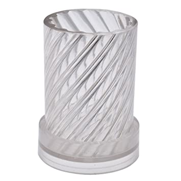 hongma molde para vela columna espiral transparente Fabrique de velas plástico refractaria 5x10.2cm transparente: Amazon.es: Hogar