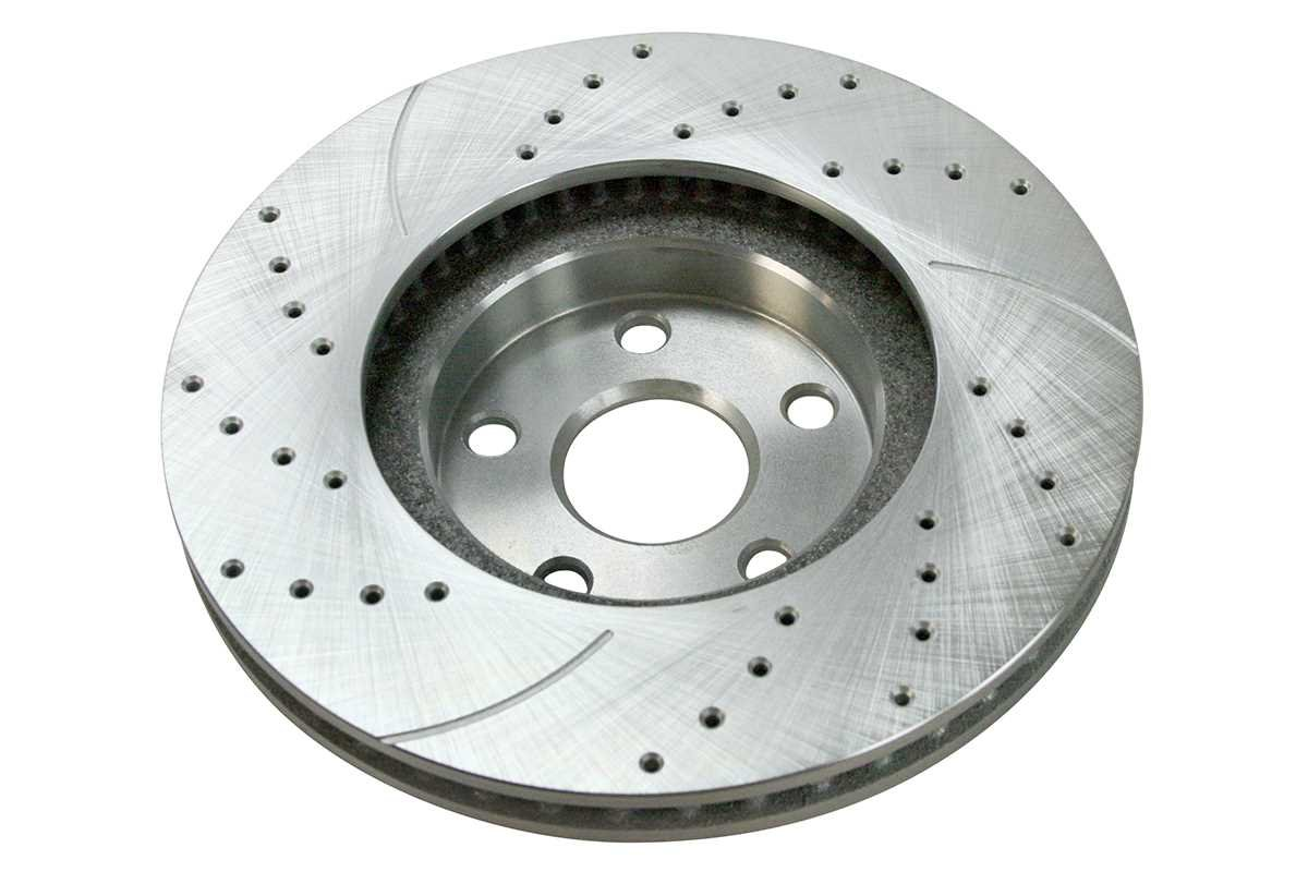 Prime Choice Auto Parts SRBRPKG00083 Front Performance Silver Rotors Calipers and Ceramic Pads Set