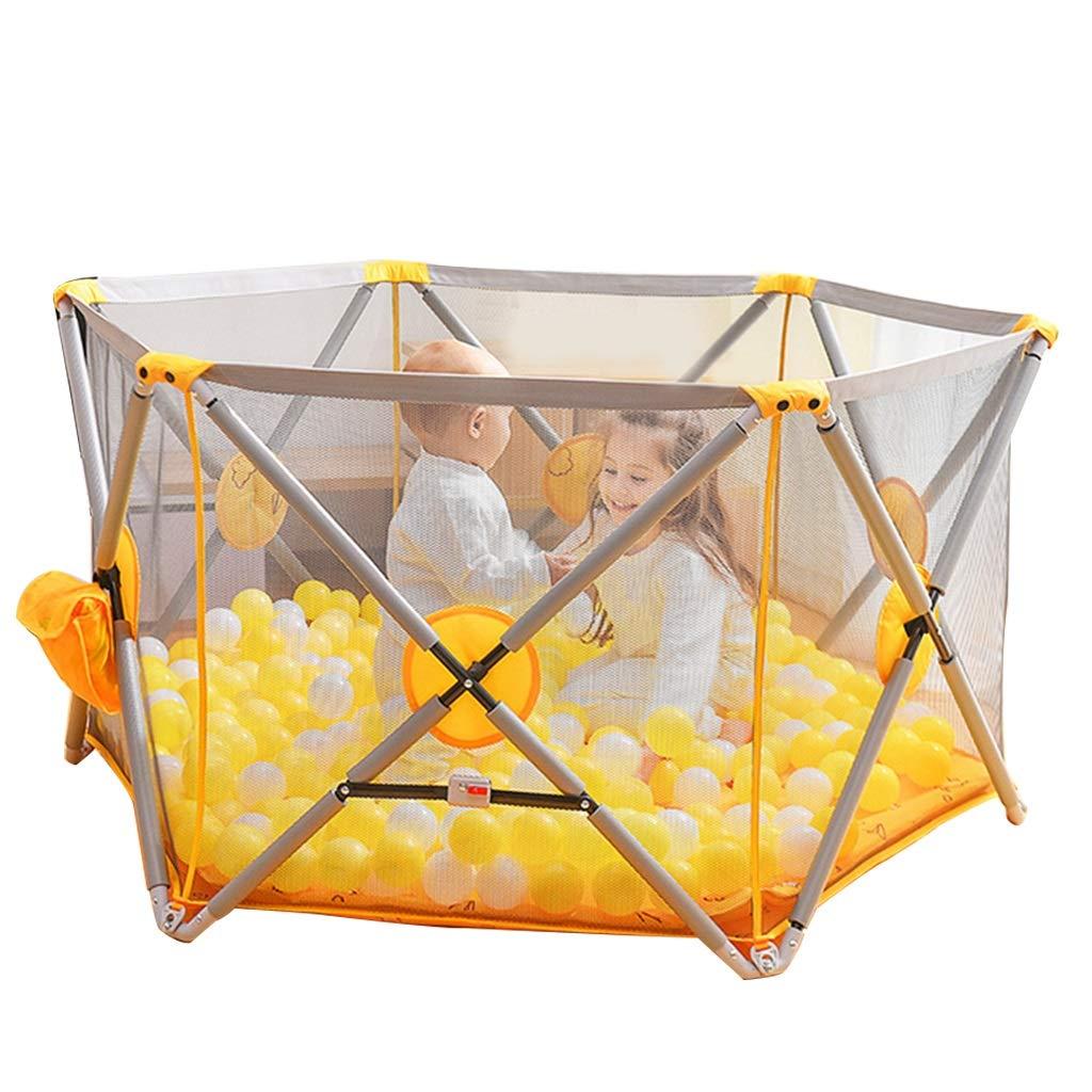 折りたたみ式子供用プレイフェンスポータブルインドアチャイルドフェンスセーフゲームフェンス最高のギフト (Color : Orange, Size : 145x145x75cm) 145x145x75cm Orange B07LH1659N