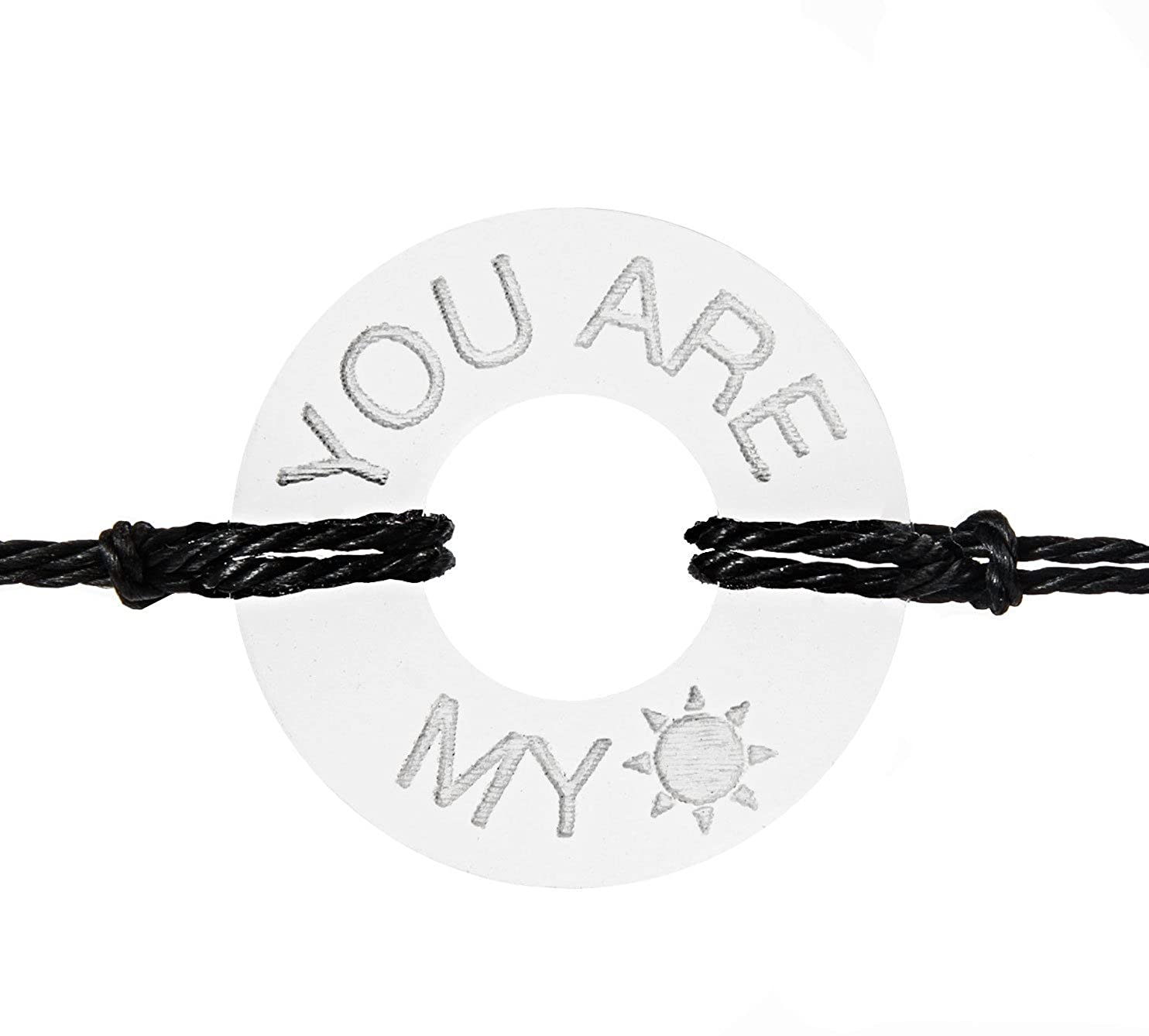 Life Token Handmade Personalized You are My Sunshine Bracelet