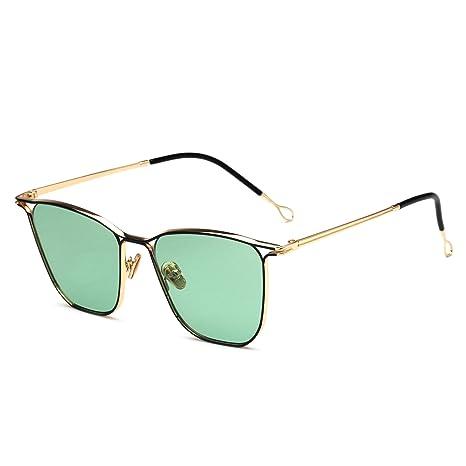 RDJM Occhiali da sole per donna e uomo, occhiali da sole con montatura in metallo Specchietto da vista, d