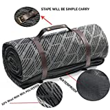 spencer&whitney Picnic Blanket Beach Blanket Waterproof Extra Large Outdoor Blanket 10% Wool/90% Polyester Blanket with Straps Portable Camping Blanket Outdoor Blanket