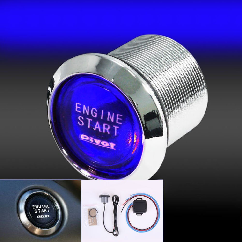 Awakingdemi 12v Car Engine Start Push Buttonuniversal Is Using A Switch To Power Ignition And Momentary Vehicle Press Button Starter Automotive