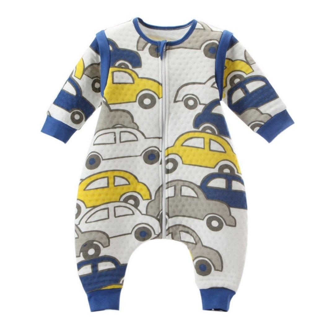 Pyjama Combinaison Unisexe Bébé Gigoteuse Manches Amovible Coton Sac de Couchage Fille Garçon Hiver Chaud Imprimé Stature 70-100cm