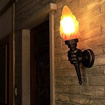 LKJCZ Antorcha Creativa Lámpara de Pared, Antorcha Luz Exterior Luz Jardín Porche Salón Dormitorio Escalera Pasillo Restaurante Cafe Cafe Bra Ligero,righthand: Amazon.es: Deportes y aire libre