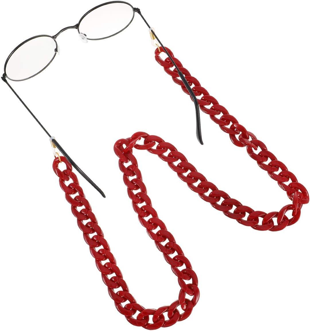 SOIMISS Brillenketten Brillenschnurhalter Anti-Rutsch-Acryl Brillenhalter Brillen Kettenriemenhalter Halter f/ür Brillen Sonnenlasse