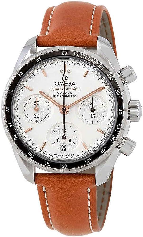 Omega Speedmaster 324.32.38.50.02.001 - Reloj automático para hombre con esfera opalina plateada