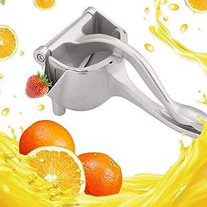 Manual Fruit Juicer, Stainless Steel Juicer Manualp, Single Press Lemon Squeezer,Portable Manual Juicer