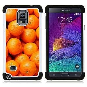 For Samsung Galaxy Note 4 SM-N910 N910 - orange macro fruit tropical Dual Layer caso de Shell HUELGA Impacto pata de cabra con im??genes gr??ficas Steam - Funny Shop -