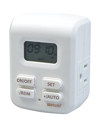 Woods 50029wd indoor plug in astronomical timer 2 grounded woods 50029wd indoor plug in astronomical timer 2 grounded outlets sciox Images