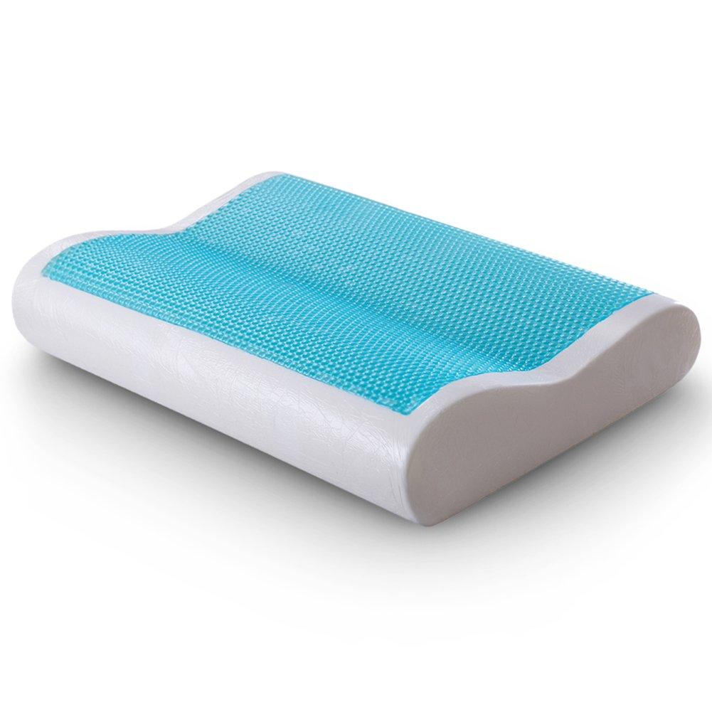 cr sleep gel memory foam contour pillow for sleeping cool an
