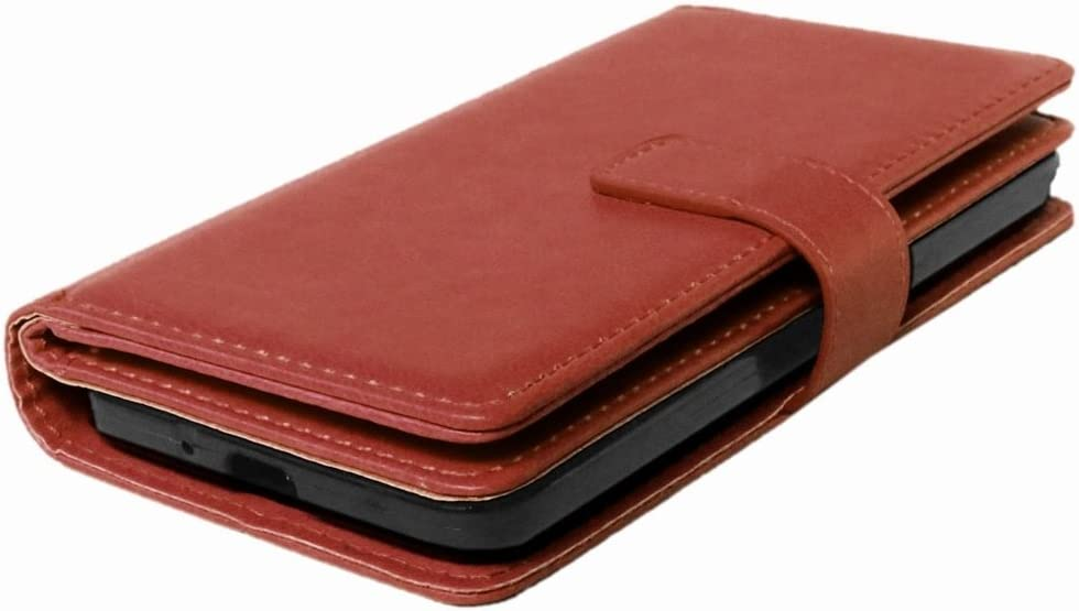 2in1 TPU Cover LEMORRY Samsung Galaxy Grand Prime G530 Wallet Case Flip Premium PU Leather Magnetic Bumper Protective Pouch Brown