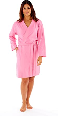 3d2ac20dca7 Cookies and Cream Ladies Kimono Wrap Jersey Cotton Dressing Gown Summer  Bath Robe House Coat 12