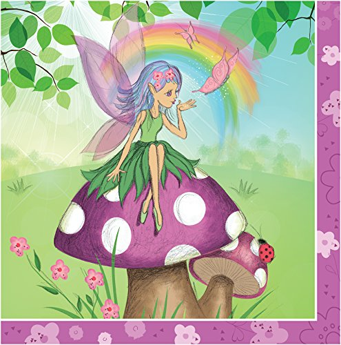 Creative Converting 16 Count Fancy Fairy Lunch Napkins, P...