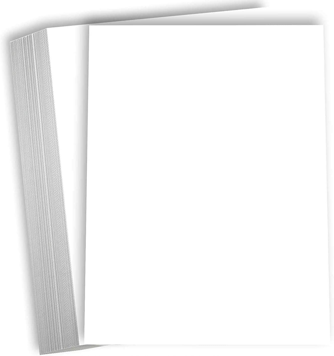 4 1//8 x 8 - 120lb Pack of 250 Photo Greeting Flat Card Glossy White