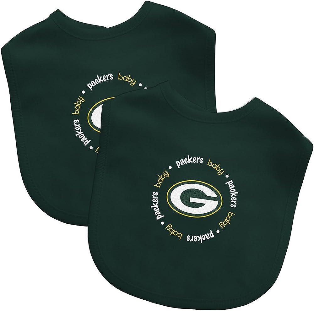 New Licensed Green Bay Packers 3pc Baby Bib /& Burp Set TOO CUTE Last Ones!