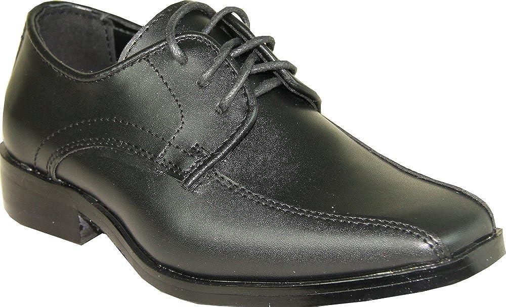 VANGELO Boy Tuxedo Shoe TUX-5K Square Toe for Wedding, School Uniform