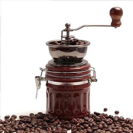 HY-pequeños electrodomésticos Molinillo de café Manual - Molinillo - Molinillo de café Manual - Molino de Grano de café portátil para el hogar -20 * 8 cm: ...