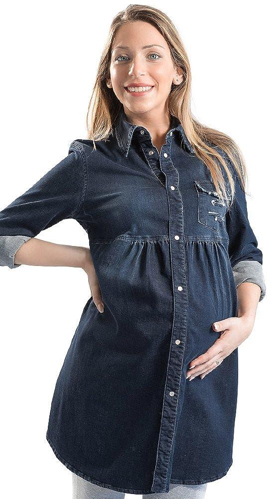 Camicia Jeans Donna Premaman San Francisco Manica Lunga Made in Italy
