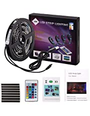 LED Light Strip 2 Meters USB LED Lights 5050 SMD RGB LED Strip Light,LED TV Backlight Bias Lighting with Remote Controller for 40 to 60 Inch HDTV,PC Monitor