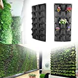 Grow Bag - 18 Pockets Non Woven Planting Bag Garden Vertical Hanging Wall Green Plant Breathable Home Gardening - Accelerator Liner Tan Saucers Baby Vivosun Llc Garden Kit Ipower