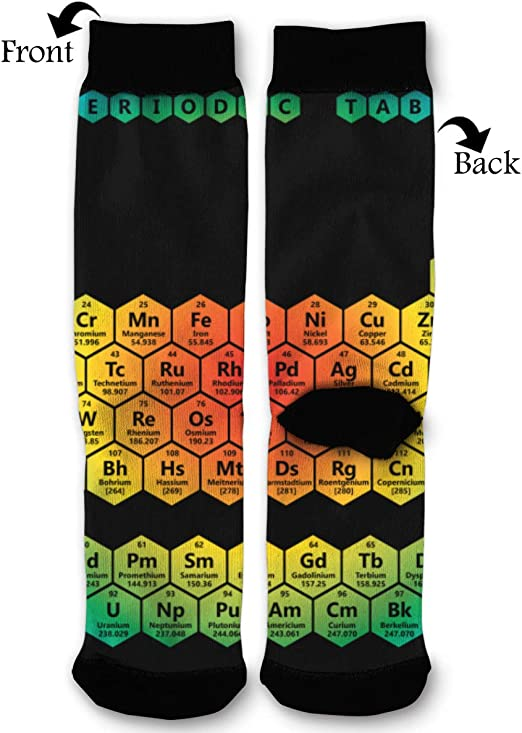BLongTai Knee High Compression Socks Rainbow Pattern for Women and Men Sport Crew Tube Socks