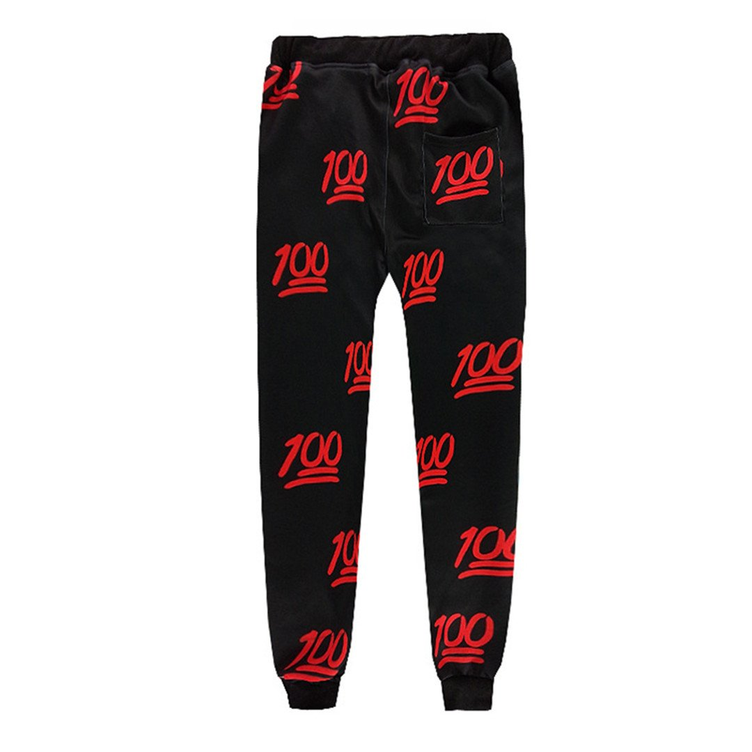 SUOWEIHAO Two Piece Set Sweatshirts+Sweatpants 3D 100 Casual Hip Hop Tracksuit Sets