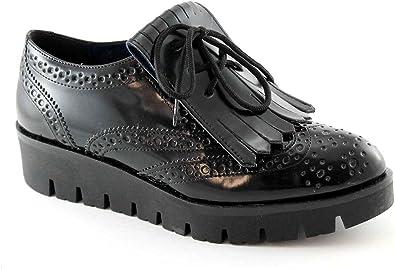 PREGUNTA 56501 chaussures de femme noire brogues Anglais toe