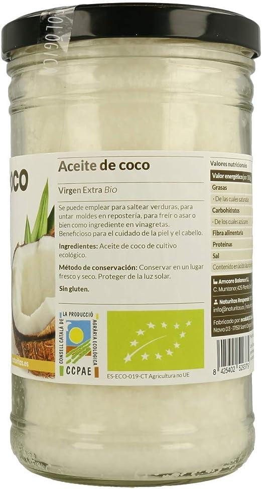 Naturitas Aceite de Coco | 1L | Virgen extra | Bio | Efecto antibacteriano | Perfecto para cocinar | Hidratante de cabello y piel | Vitamina E | Apto ...