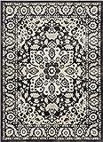 Cheap Well Woven Cressida Grey Medallion Modern 5×7 (5'3″ x 7'3″) Area Rug Beige Ivory Vintage Erased Oriental Carpet