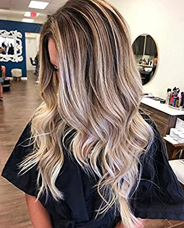 Ugeat Tape In Remy Hair Extensions Balayage Hair Color Dark Brown 4 Fading To Blonde 18 Seamless