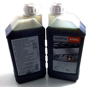 Stihl Synth Plus - Cadena para motosierra y aceite