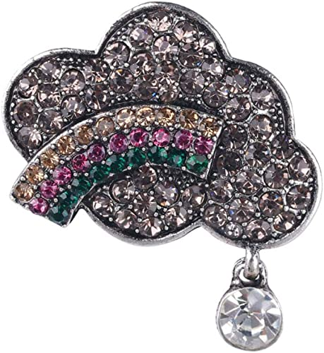Inspirational Brooch Original Brooch Gift For Women Quote Brooch Cloud-Shaped Brooch Star-Shaped Brooch Fabric Brooch Silver