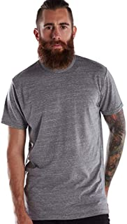 product image for US Blanks Men's Short-Sleeve Made in USA Triblend T-Shirt XS TRI GREY