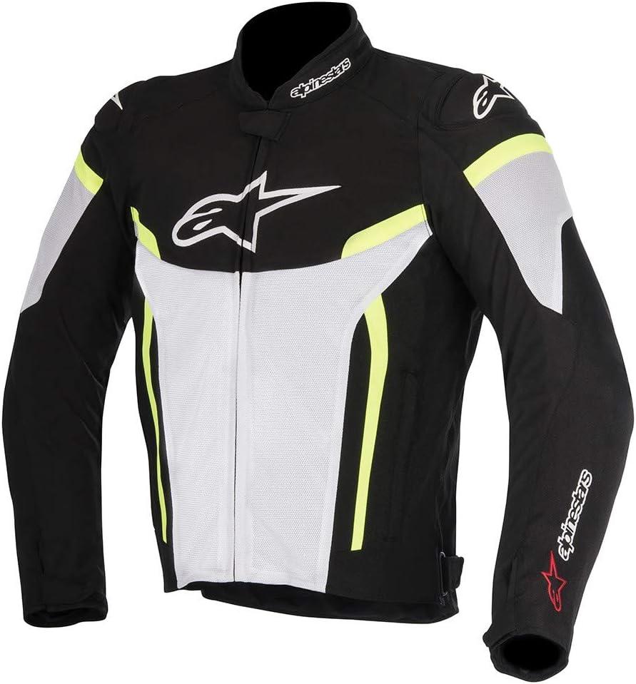 Alpinestars Mens T-GP Plus R V2 Air Motorcycle Jacket Medium Black//White//Yellow