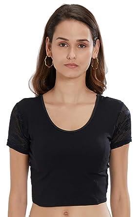 Fressia - Blusas para mujer, elásticas, color negro: Amazon.es ...