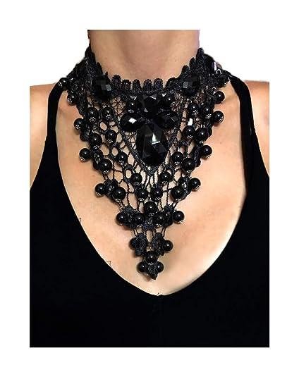 Amazon Nataliya Choker Necklaces Black Bead Lace Choker Jewelry