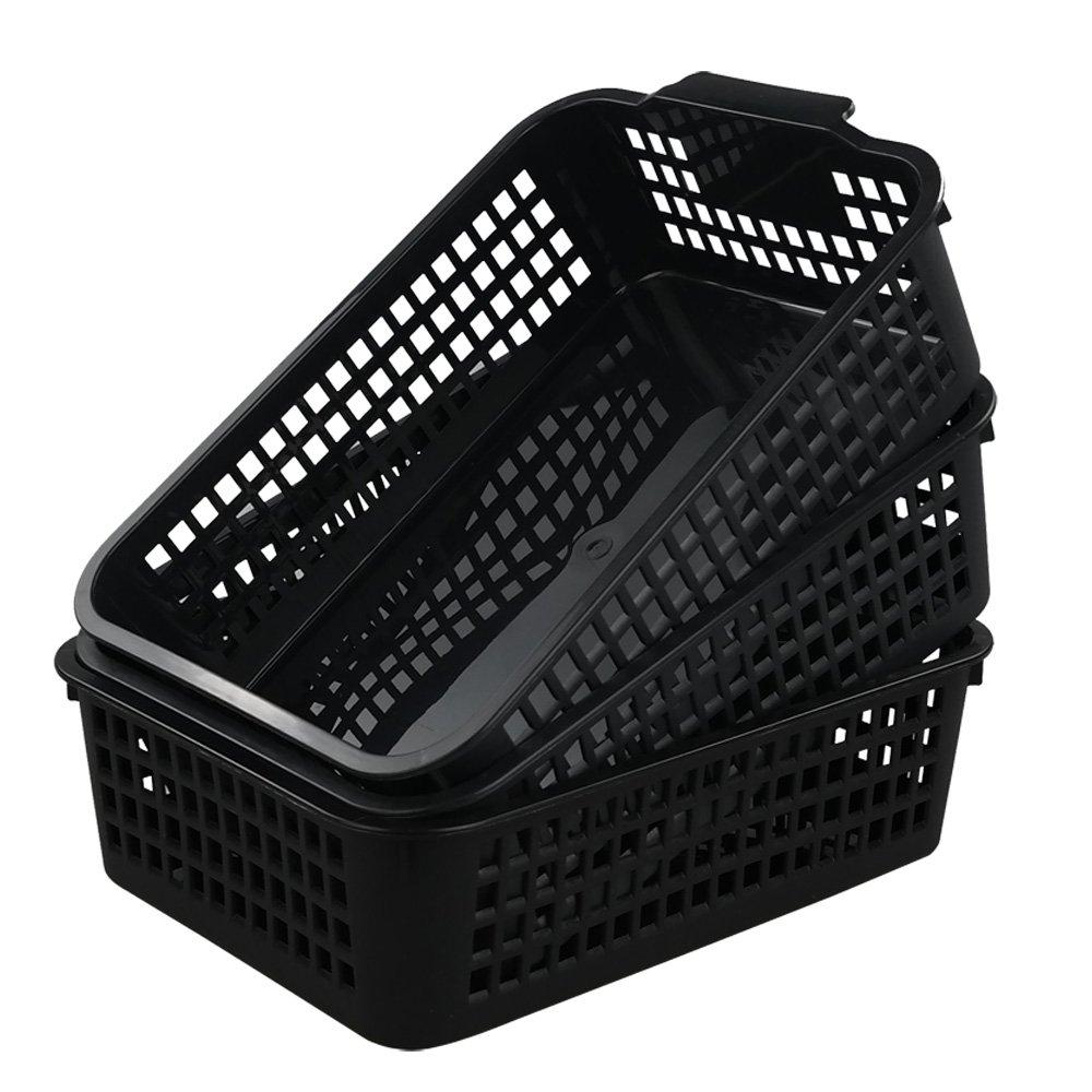 Begale Plastic Desktop Storage Trays Baskets Organization, Set of 3