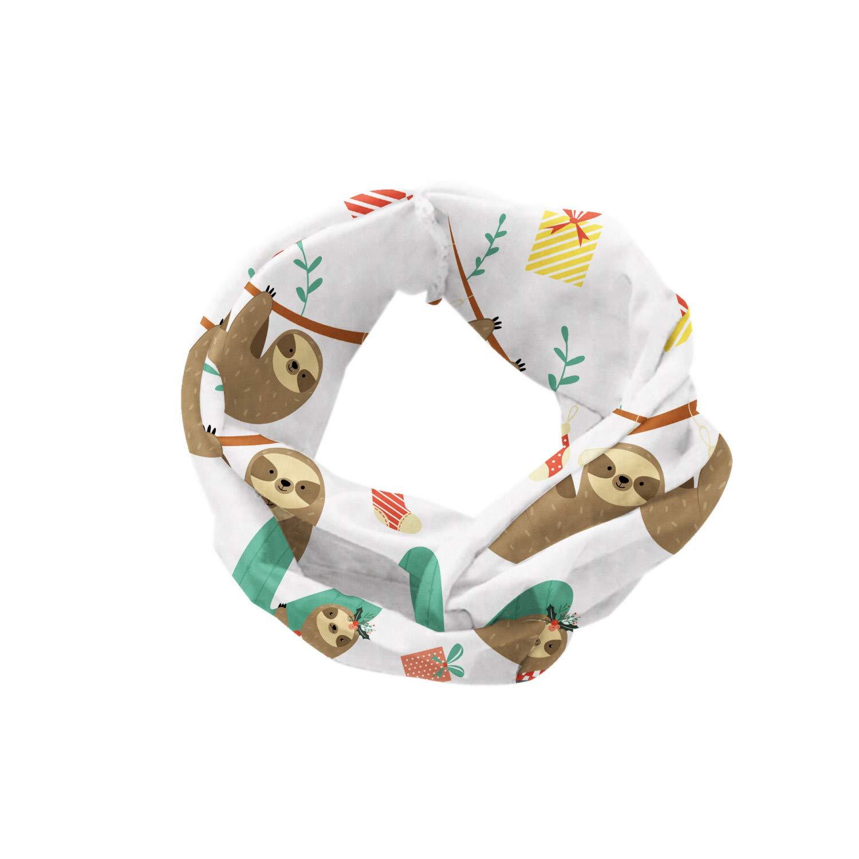 Ambesonne Christmas Head Scarf Hair Wrap Circles Sock