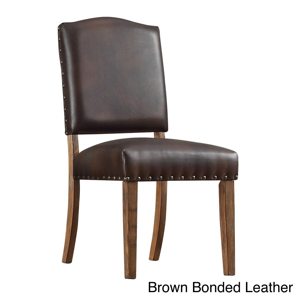 Amazon.com - Benchwright Nailhead Upholstered Dining Side Chairs ...