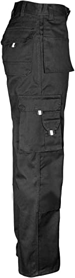 Navy, 38W, 32L Mens Work TUFF Duty Trouser Work-WEAR Multi-Pocket Tough Stitched