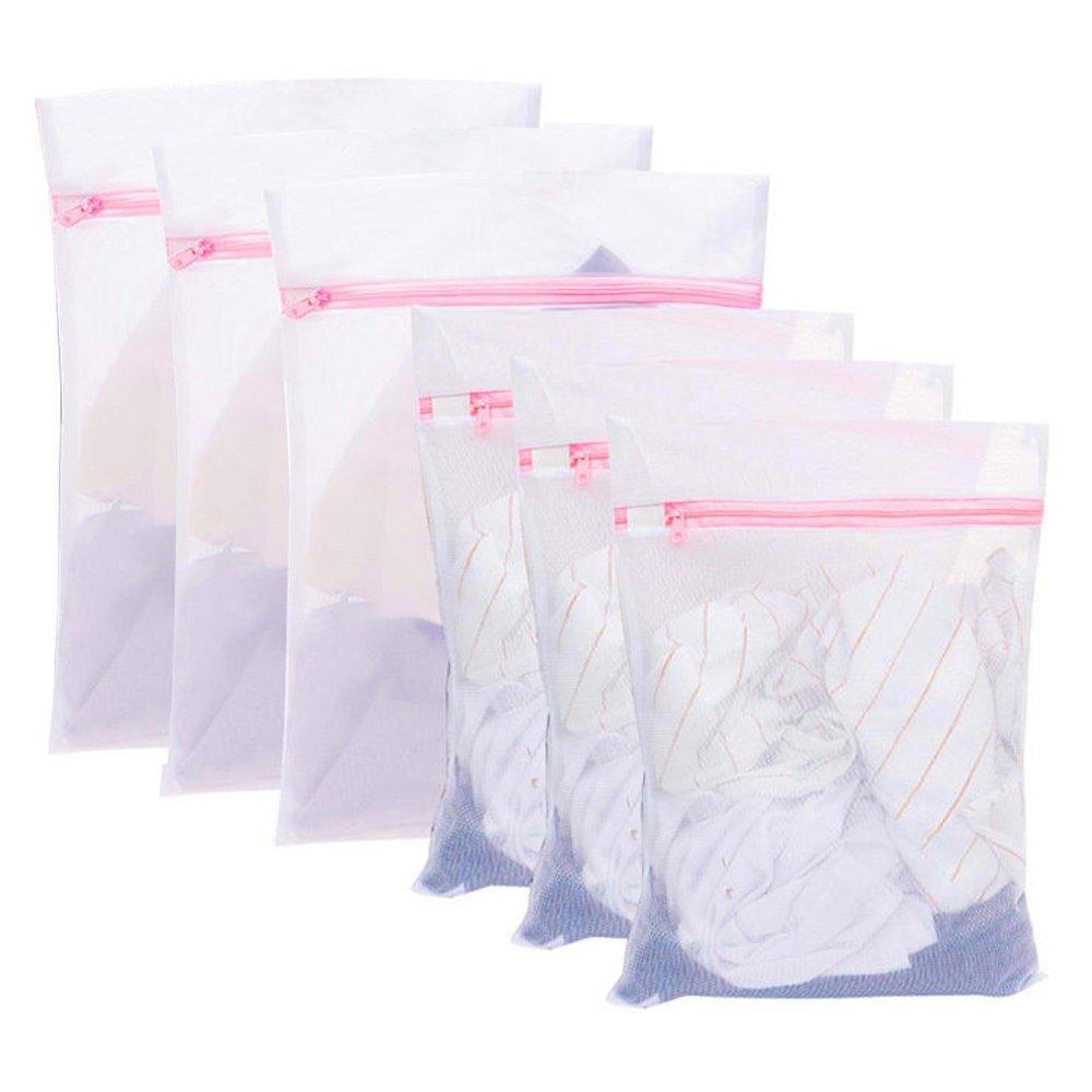 MPTECK @ x Bolsas de Lavandería Zippered malla de lavado de bolsa