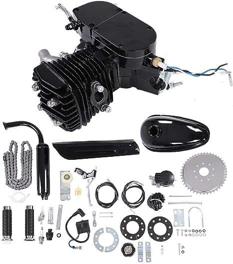 Motor Central para bicicleta, kit de conversión para bicicleta eléctrica, CC de 2 tiempos ciclo Pedal Gasolina Gas Motor kit de conversión Bicicleta para moto Negro motorizado: Amazon.es: Coche y moto