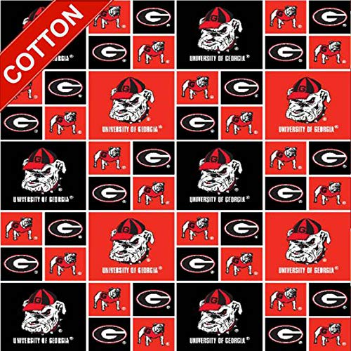 University of Georgia Bulldogs NCAA Cotton Fabric - 45