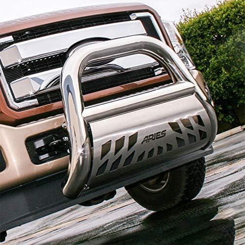 Ram 1500 ARIES AL45-5006 Big Horn 4-Inch Black Aluminum Bull Bar Select Dodge 2500 3500
