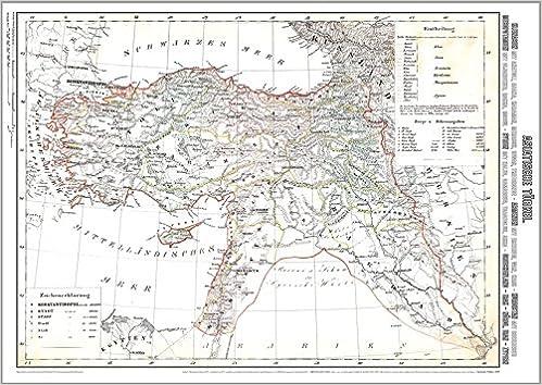 Syrien Irak Karte.Historische Karte Asiatische Turkei 1859 Plano Kleinasien